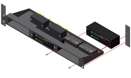 RDL RU-RA3A 19in Rack Mount for 3 Rack-Up Series Products