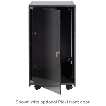 Chief ERK-20-20B 20U Elite Rack - Ebony Fleck Laminate Finish with Casters