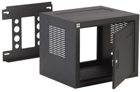 Raxxess NW2F818 W2 Fixed Wall Rack - 8U 18 Inch Deep