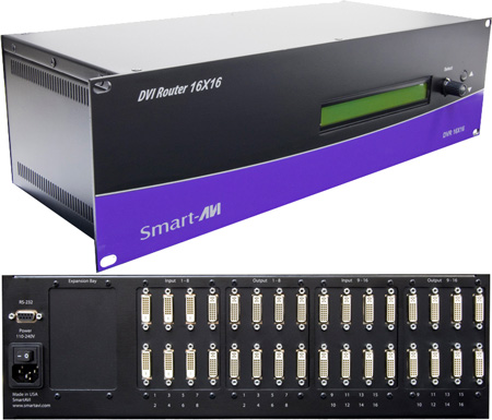 Smart AVI DVR16X16S DVI-D 16x16 Matrix Switcher / Router