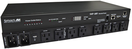 Smart-AVI SRP-08R 8-Port Smart Remote Power Unit with US Socket