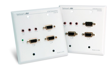 Smart AVI XTWALLS UXGA/Audio/RS-232/IR  Point-to-Point Wall Plate CAT5 Extender