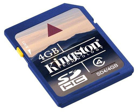 Kingston SD4/4GB 4GB SD Card Secure Digital High-Capacity (SDHC) Flash Card