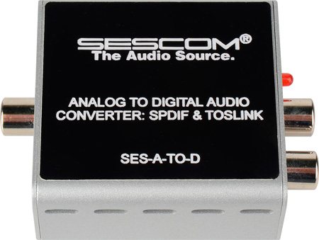 Sescom SES-A-TO-D Analog to Digital Audio Converter