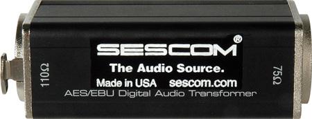Sescom SES-AES-EBU-1 XLRF to 75 Ohm BNC Female AES/EBU Impedance Transformer
