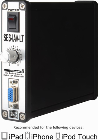 Sescom SES-IAV-LT iPhone / iPad / iPod to 720p Component RCA Video & Stereo Audio Breakout Interface