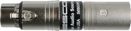 Sescom SES-INLINE-EMCF Inline RF Filter XLR Male to Neutrik EMC Female Grnd Lift