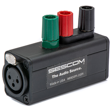 Sescom SES-MKP-21 Pro Female XLR 3 Binding Post Line Tap Adapter
