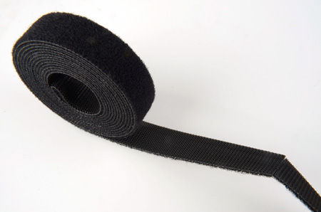 SoftCinch 3124-25 Black 24 Inch Pre-perforated 1 Inch Wide Hook & Loop PolyTie -25 pk