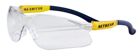 SetWear SFT-00-CLR Safety Glasses - Clear Lenses