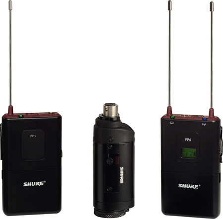 Shure FP135 Bodypack/Plug-On Combo Wireless Mic System - 518-542MHz