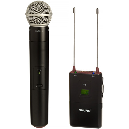 Shure FP25 SM58 Handheld Wireless Mic System - 572-596MHz