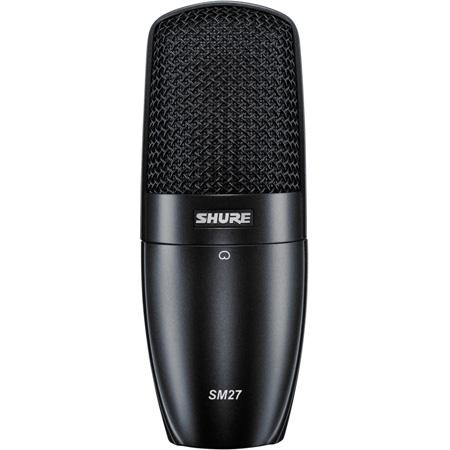Shure SM27-SC Cardioid Side-Address Condenser Mic w/Shock-Mount