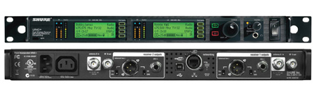 Shure UR4D-L3 Dual Channel Diversity Receiver with IEC Power Cable - L3 638-698MHz