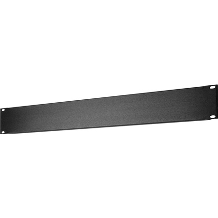 3 RU Black Anodized Aluminum Blank Rack Panel