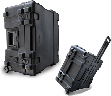 SKB 3R2222-12B-DW Roto-Mold Mil-Standard Utility Case With Dividers and Wheels