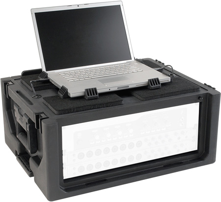 SKB 1SKB19-RSF2U Studio Flyer 2RU Rack & Laptop Combo Rackmount Case - Black