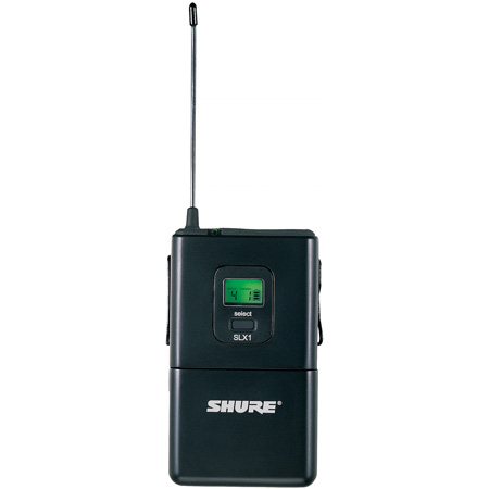 SLX UHF Wireless Bodypack Transmitter Unit Only 24 Mhz - UHF Frequency 572 - 596 MHz