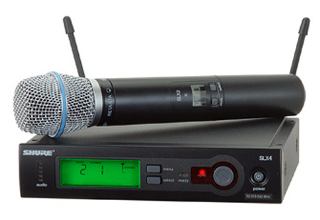 Shure SLX24/BETA87C Handheld Wireless System - H5 518-542 MHz