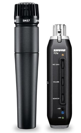 Shure SM57 Plus X2u USB Digital Bundle