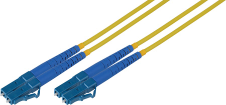 2-Meter 9u/125u Fiber Optic Patch Cable Singlemode Duplex LC to LC - Yellow