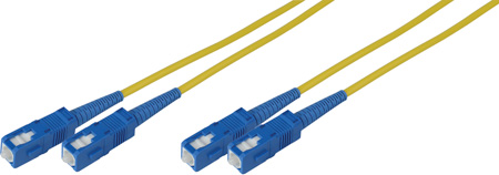3-Meter 9u/125u Fiber Optic Patch Cable Singlemode Duplex SC to SC - Yellow