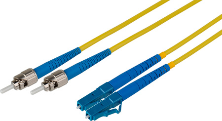 5-Meter 9u/125u Fiber Optic Patch Cable Singlemode Duplex ST to LC - Yellow