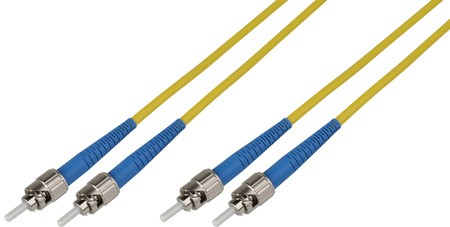 200-Meter 9u/125u Fiber Optic Patch Cable Singlemode Duplex ST to ST - Yellow