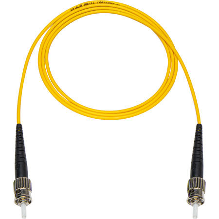 3-Meter 9u/125u Fiber Optic Patch Cable Singlemode Simplex ST to ST - Yellow