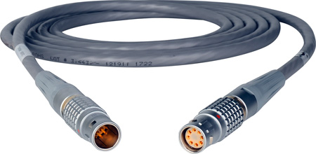 Lemo 3B 8-Pin Male to Female DC Power Cable - 1-Foot