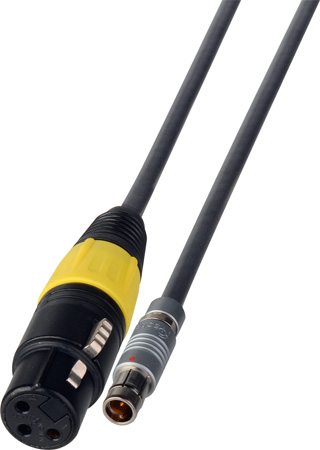 3-Pin Fischer to 3-Pin XLR Female 24V DC Power Cable - 1-Foot