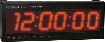 Radio Systems CT-2002 4-Inch LED Studio Clock & Timer with I/R Remote