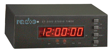 Radio Systems Desktop 0.56-Inch LED Studio Clock with GPS & I/R Remote