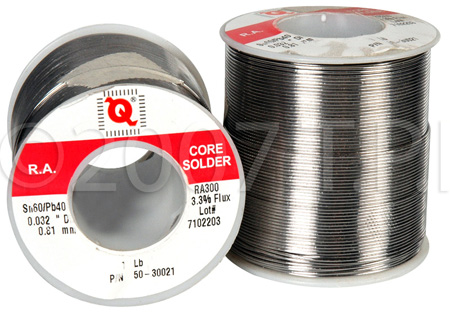 Qualitek RA300 Rosin Core 21 Gauge 60/40 0.032 Diameter 1 Lb. Solder