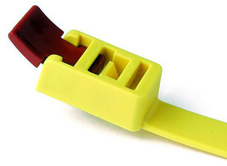 Hellermann Tyton SpeedyTie Yellow Reusable 29-Inch Cable Tie 25-Pack