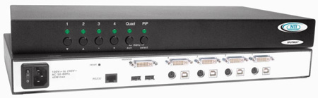 NTI SPLITMUX-DVI-4 DVI/VGA Quad Screen Multiviewer