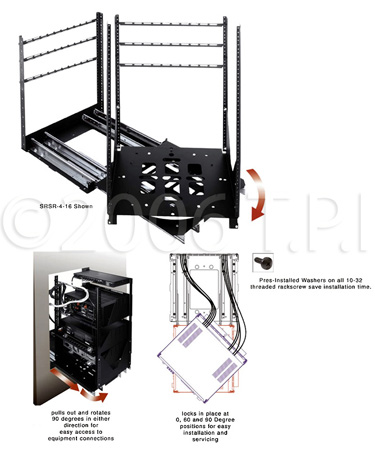 SRSR-4-12 Rotating Sliding Rail System 12 Space 4 Slide