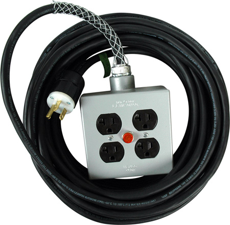 Stage Systems Power Cable w/light - 35Ft - 20 Amp