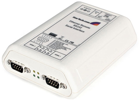 StarTech NETRS232_2 2 Port RS232 Serial over IP Ethernet Device Server