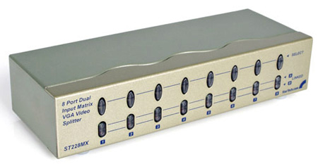 Startech ST228MX 2x8 High Resolution Matrix VGA Video Switch