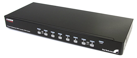 StarTech SV831DUSBU 8 Port 1U Rack Mount USB KVM Switch with OSD