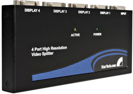 StarTech ST124PRO 4 Port High-Resolution VGA Video Splitter/DA