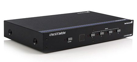 StarTech VS410RVGAA 4 Port VGA Switcher With Audio And RS-232