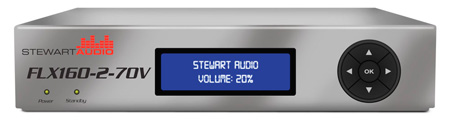 Stewart FLX160-2-70V-CN 2-Channel DSP Enabled Amplifier - 2 x 160W @ 70/100V