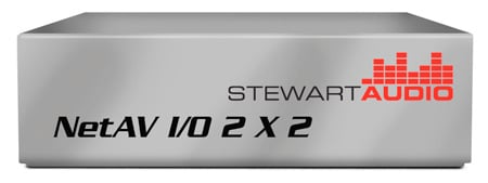 Stewart NetAV I/O 2X2 Network Enabled On/Off Ramp Device - Cobranet