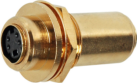 SVHS 4-Pin Female-Female Gold Chassis Mount