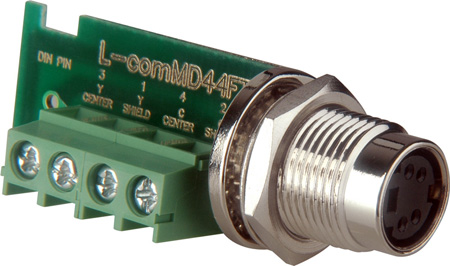 S-Video 4-Pin Female to Rear Terminal Block Screw Down Connector