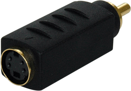 S-Video Female to RCA Male In-Line Adapter Color