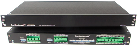 Switchcraft RMAS8C Dual Isolated 8-Channel Mic Splitter with 3-Way Split