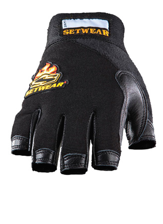 SetWear SWF-05-009 Leather Fingerless Glove - Size M